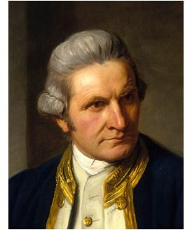 Captain James Cookm (1728-1779)